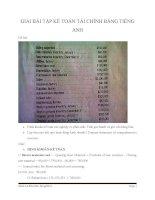 Hướng dẫn giải bài tập kế toán tài chính