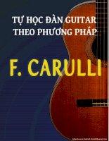 Tài liệu tự học guitar cổ điển cho người mới bắt đầu