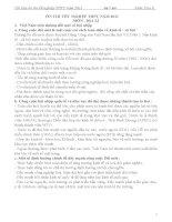 Tài liệu ôn thi TN THPT 2011-Môn Địa lí -P1