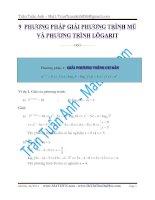 9 phương pháp giải phương trình mũ logarit ôn thi đại học