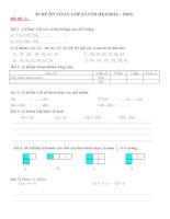 Bộ đề toán ôn tập cho học sinh lớp 2 có đáp án