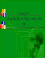 Bài giảng lý thuyết kiểm toán   chương 5:  cơ sở dẫn liệu và bằng chứng kiểm toán