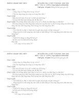 Đề và đáp án kiểm tra 1 tiết Lý 6a(10-11)