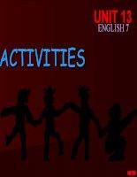 Unit 13: Activities. Sport