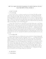 MỘT SỐ KINH NGHIỆM VẼ HÌNH TRONG GIẢNG DẠY BỘ MÔN CÔNG NGHỆ 11