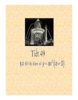 Bài giảng đại số 9- Đồ thị hàm số y= ax2 (a#0)