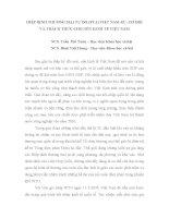 HIỆP ĐỊNH THƯƠNG MẠI TỰ DO (FTA) VIỆT NAMEU: CƠ HỘI VÀ THÁCH THỨC CHO NỀN KINH TẾ VIỆT NAM