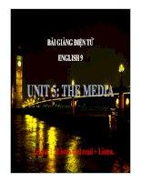 Bài giảng tiếng anh 9- Unit 5. The Media