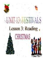 Bài giảng tiếng anh 8- Unit 13. Festivals (Reading)