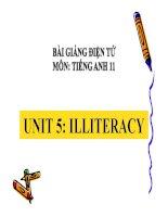 Bài giảng tiếng anh 11 - Unit 5. ILLITERACY