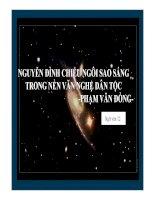 Bài giảng ngữ văn 12- Nguyên Đình Chieur ngôi sao ánh sáng trong nền văn nghệ dân tộc (Phạm Văn Đồng)