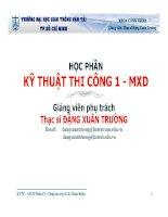 Bài giảng kỹ thuật thi công 1 - MXD , phần 4 - Công tác xây tô và hoàn thiện
