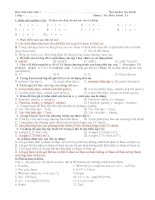 kiểm tra 1 tiết kỳ 2 khối 11 (4 đề - gồm 2 phần trắc nghiệm và tự luận)