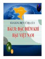 Bài giảng địa lý 8- Đặc điểm khí hậu Việt Nam