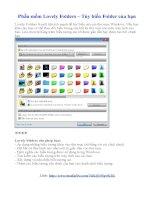 Phần mềm Lovely Folders – Tùy biến Folder của bạn