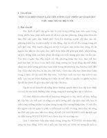 MỘT VÀI BIỆN PHÁP LÀM TỐT CÔNG TÁC PHỔ CẬP GIÁO DỤC TIỂU HỌC ĐÚNG ĐỘ TUỔI