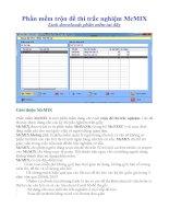 mc-mix64_Phần mềm trộn đề trắc nghiệm của Bộ giáo dục