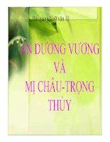 Bài giảng ngữ văn 10- An Dương Vương và Mị Châu cùng Trọng Thủy