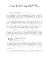SKKN MỘT SỐ BIỆN PHÁP NÂNG CAO HIỆU QUẢ CẢI CÁCH HÀNH CHÍNH TRONG NHÀ TRƯỜNG