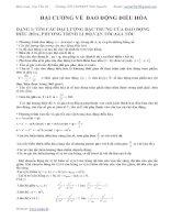 Các dạng bài tập về dao động điều hòa có lời giải