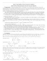 Bài tập hóa vô cơ giải theo phương pháp bảo toàn electron Luyện thi đại học môn Hóa khối A, B