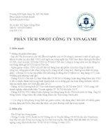 Phân tích SWOT công ty VINAGAME