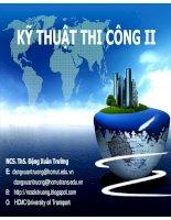Bài giảng kỹ thuật thi công II - Phần III. Thi công BTCT dự ứng lực