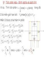 Bài giảng giải tích 2  chương 2.1 tích phân kép – định nghĩa và cách tính
