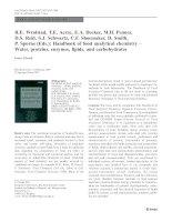 Sổ tay hóa học phân tích thực phẩm   nước, protein, lipid, carbonhydrat