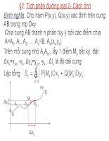 Bài giảng giải tích 2  chương 3 2 định nghĩa, tính chất, cách tính tích phân đường loại 2