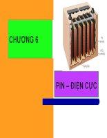 Bài giảng hóa lý   chương 6  pin – điện cực