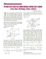 4 cách giải cho bài toán xác định đường vuông chung của hai đường chéo nhau