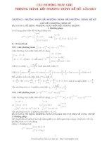 Phương pháp giải phương trình hệ phương trình Mũ, logarit.PDF