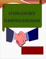 SLIDE đàm phán và ký kết hợp đồng kinh tế kinh doanh quốc tế Chương 7 kỹ năng đàm phán và giao dịch hợp đồng