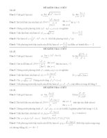 Đề thi thử học kỳ 2 môn toán 11 (phần giải tích)