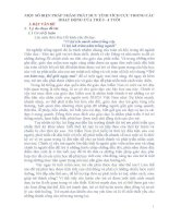 SKKN MỘT SỐ BIỆN PHÁP NHẰM PHÁT HUY TÍNH TÍCH CỰC TRONG CÁC HOẠT ĐỘNG CỦA TRẺ 3 - 4 TUỔI