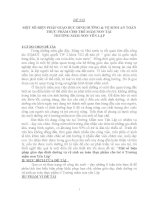 SKKN MỘT SỐ BIỆN PHÁP GIÁO DỤC DINH DƯỠNG & VỆ SINH AN TOÀN THỰC PHẨM CHO TRẺ MẦM NON TẠI TRƯỜNG MẦM NON YÊN LẬP