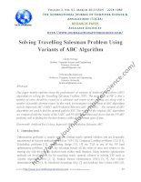 TÀI LIỆU THAM KHẢO-Solving Travelling Salesman Problem Using  variants of ABC Algorithm