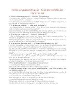 Một số câu hỏi phỏng vấn bằng tiếng Anh và cách trả lời