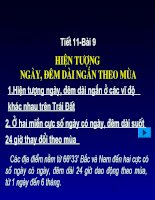 Bai 13 Hiện tượng ngày đêm dài ngắn theo mùa