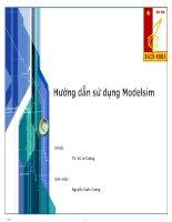 BÀI BÁO CÁO THỰC TẬP-Hướng dẫn sử dụng Modelsim