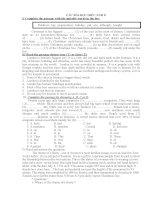 Các bài đọc hiểu Tiếng anh 8