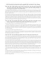 154 Câu hỏi ôn tập thi tuyển ngành Kỹ sư kinh tế xây dựng (có đáp án)