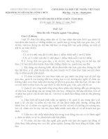Câu hỏi và đáp án thi công chức chuyên ngành văn phòng