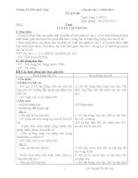 Giáo án 4 tuần  30( 2buôỉ)