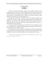 BÀI BÁO CÁO THỰC TẬP-TÌM HIỂU  VỀ MẠNG LƯỚI TRẠN TRUNG TÂM VIỄN THÔNG VỊ THANH