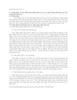 BÀI TẬP TÌNH HUỐNG-Khái niệm và đặc điểm hoạt động bán lẻ của các ngân hàng thương mại Việt Nam (NHTMVN)