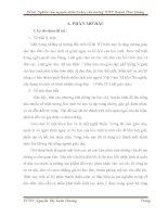 BÁO CÁO THỰC TẬP-Nghiên cứu về nguyên nhân bỏ học và hiệu quả của các giải pháp giáo dục đã thực hiện trong  trường THPT Huỳnh Thúc Kháng - huyện Sơn Tịnh – tỉnh Quảng Ngãi trong các năm học qua