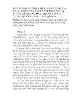 BÁO CÁO THỰC TẬP-SỰ CHỦ ĐỘNG, NHẠY BÉN, SÁNG TẠO CỦA ĐẢNG CỘNG SẢN VIỆT NAM TRONG QUÁ TRÌNH LÃNH ĐẠO ĐẤU TRANH GIÀNH CHÍNH QUYỀN (1930 – 1945)