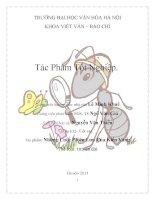 Tác phẩm tốt nghiệp của sinh viên Khoa Viết văn - những cuộc phưu lưu của chú kiến vàng